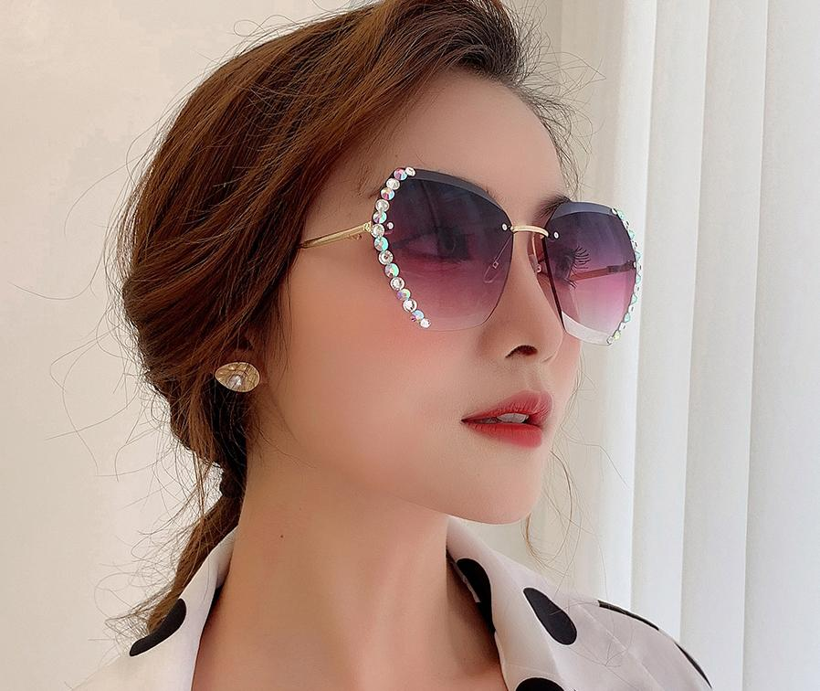 Luxury Vintage Crystal Sunglasses