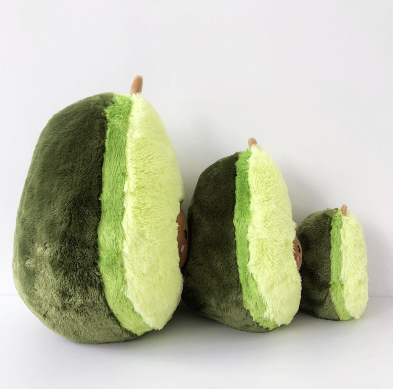Huggable Plush Avocado Toy