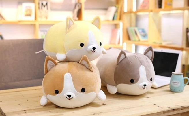 Cute Corgi Plush Pillow