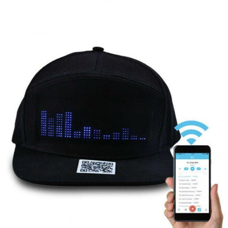 4645 402423 min - Casquette avec Message à LED