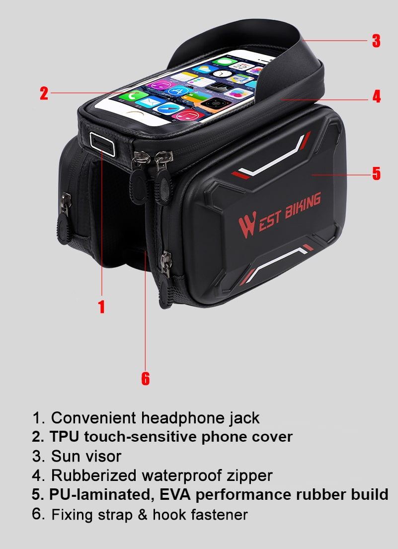 Waterproof Bicycle Touch Screen Bag